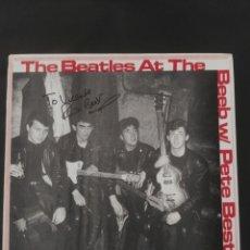Discos de vinilo: THE BEATLES AT THE BEEB W/ CON FIRMA Y DEDICATORIA DE PETE BEST (LP) . Lote 170053468