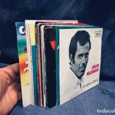 Discos de vinilo: LOTE 16 DISCOS VINILO JULIO IGLESIAS MOLINA PERET MANOLO ESCOBAR TANGOS TUNA VALDERRAMA SENANTE S XX. Lote 170063404