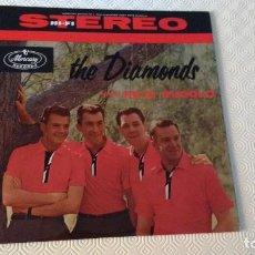 Discos de vinilo: SEGUNDO ALBUM DEL CUARTETO VOCAL CANADIENSE DE MUSICA POP Y DOO-WOP, THE DIAMONDS.EDICION USA-. Lote 170063876