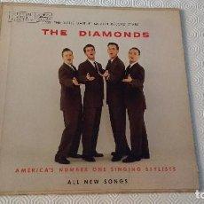 Discos de vinilo: PRIMER ALBUM DEL CUARTETO VOCAL CANADIENSE DE MUSICA POP Y DOO-WOP, THE DIAMONDS-EDICION CANADIENSE. Lote 170065268