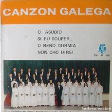 Discos de vinilo: EP - CIRCULO RECREATIVO CULTURAL DE PORRIÑO - O ASUBIO / SI EU SOUPER... /O NENO DORMIA +1. Lote 170072996