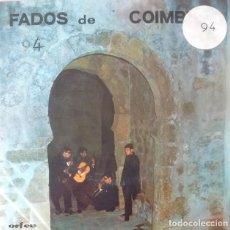 Discos de vinilo: EP- ANTONIO BERNARDINO - FADOS DE COIMBRA - MARIA / SAMARITANA / 5º ANO MEDICO / AO MORRER OS OLHOS. Lote 170073528