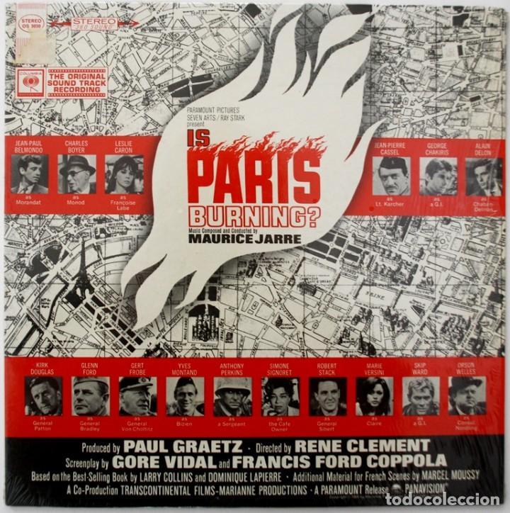 ARDE PARÍS. IS PARIS BURNING. MAURICE JARRE (Música - Discos - LP Vinilo - Bandas Sonoras y Música de Actores )