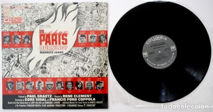 Discos de vinilo: ARDE PARÍS. IS PARIS BURNING. MAURICE JARRE - Foto 3 - 170081284