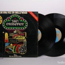 Discos de vinilo: DOBLE DISCO LP DE VINILO - ERASE UNA VEZ EN HOLLYWOOD / THAT'S ENTERTAINMENT - MGM - AÑO 1974. Lote 170087869