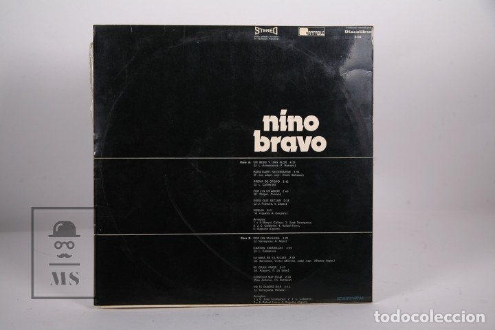 Discos de vinilo: Disco LP De Vinilo - Nino Bravo / Un Beso y Una Flor - Cantabile - Año 1973 - Foto 3 - 170088198