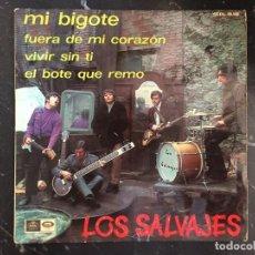 Discos de vinilo: SINGLE DE LOS SALVAJES. Lote 170097568