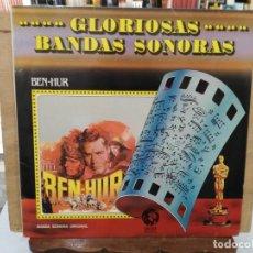 Discos de vinilo: GLORIOSAS BANDAS SONORAS - BEN-HUR - LP. DEL SELLO MGM 1959. Lote 170102932