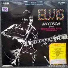 Discos de vinilo: ELVIS PRESLEY. IN PERSON AT THE INTERNATIONAL HOTEL LAS VEGAS/ BACK IN MEMPHIS RCA GERMANY 1969 2 LP. Lote 170151552