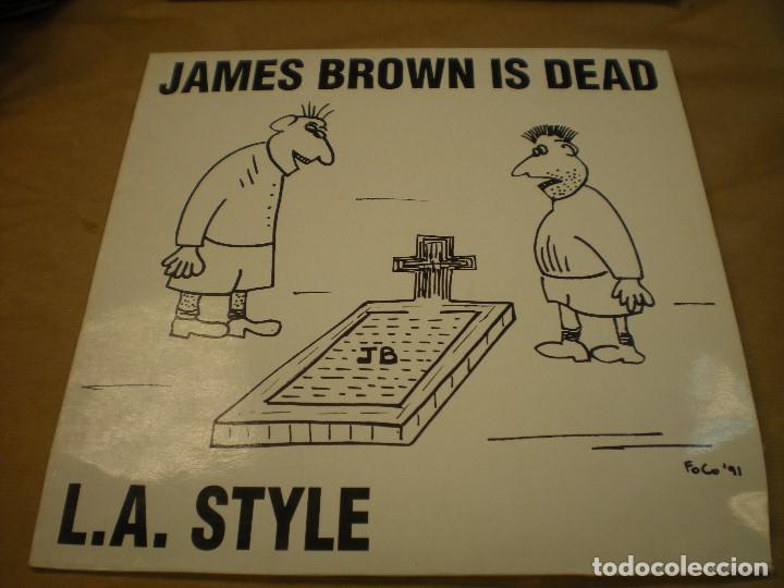 JAMES BROWN IS DEAD, L.A. STYLE. BLANCO Y NEGRO MUSIC. MAXI SINGLE (Música - Discos de Vinilo - Maxi Singles - Otros estilos)