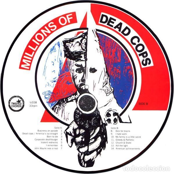 Discos de vinilo: M.D.C. - MILLIONS OF DEAD COPS - MILLIONS OF DEAD COPS - PICTURE DISC - Foto 2 - 170158324