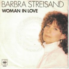 Discos de vinilo: BARBRA STREISAND - WOMAN IN LOVE / RUN WILD (SINGLE HOLANDES, CBS 1980). Lote 170172288