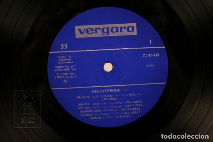 Discos de vinilo: Disco LP De Vinilo - Discotheque 2 / Los Sirex, Los Kifers, Los Géminis, Symbolo... - Vergara 1970 - Foto 2 - 170176656