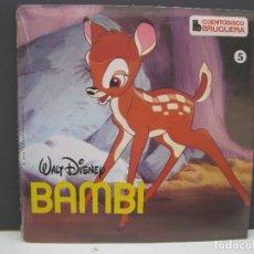 Discos de vinilo: CUENTODISCO BRUGUERA - Nº 5 - BAMBI - WALT DISNEY - CUENTO + DISCO - AÑO 1968 - NUEVO.. Lote 170177110