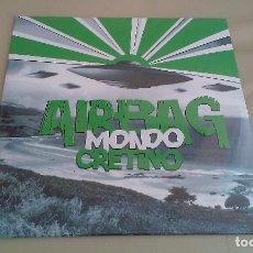 Discos de vinilo: LP AIRBAG MONDO CRETINO VINILO VERDE REEDICION 2018 PUNK POP ESPAÑA. Lote 182153431