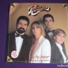Discos de vinilo: PEQUEÑA COMPAÑIA SG MOVIEPLAY 1982 AY AY AMOR/ ANTES DE CASARTE PIENSA EN MI - BALADAS BOLEROS 70'S. Lote 170188664