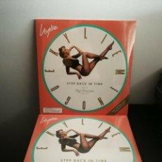 Discos de vinilo: KYLIE MINOGUE 2-LP GREEN VINYL- STEP BACK IN TIME - LIMIT EDITION. Lote 170198280
