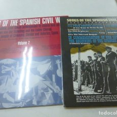 Discos de vinilo: SONGS OF THE SPANISH CIVIL WAR -2 VOLUMENES -2 LPS - FOLKWAYS RECORDS -N. Lote 170204264