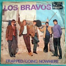 Discos de vinilo: LOS BRAVOS - TRAPPED / GOING NOWHERE - COLUMBIA 1967. Lote 170221640