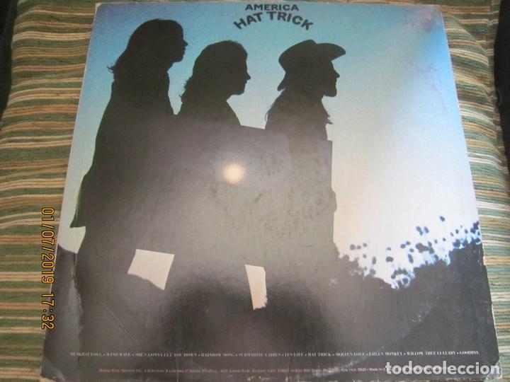 Discos de vinilo: AMERICA - HAT TRICK LP - ORIGINAL U.S.A. - WARNER BROS. 1973 CON FUNDA INT. ORIGINAL - - Foto 2 - 170224024