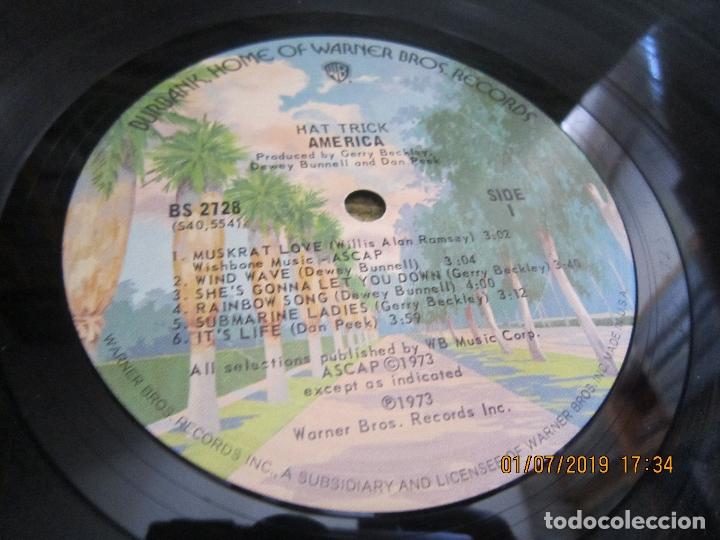 Discos de vinilo: AMERICA - HAT TRICK LP - ORIGINAL U.S.A. - WARNER BROS. 1973 CON FUNDA INT. ORIGINAL - - Foto 13 - 170224024