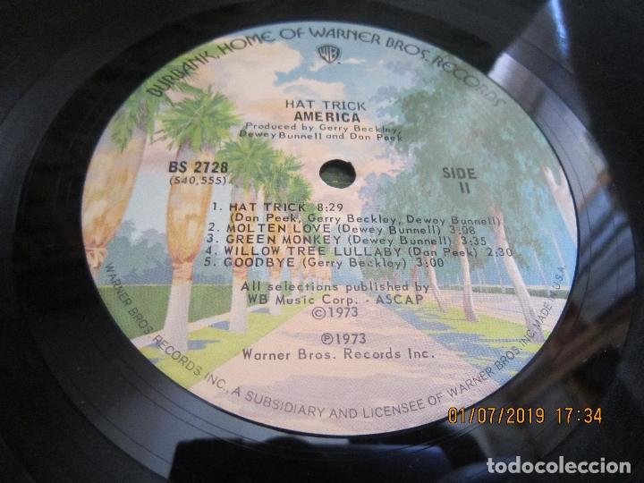 Discos de vinilo: AMERICA - HAT TRICK LP - ORIGINAL U.S.A. - WARNER BROS. 1973 CON FUNDA INT. ORIGINAL - - Foto 15 - 170224024