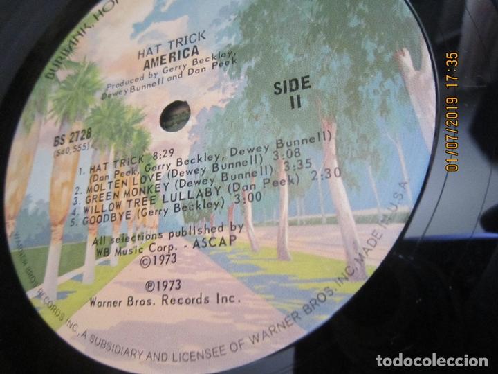 Discos de vinilo: AMERICA - HAT TRICK LP - ORIGINAL U.S.A. - WARNER BROS. 1973 CON FUNDA INT. ORIGINAL - - Foto 16 - 170224024