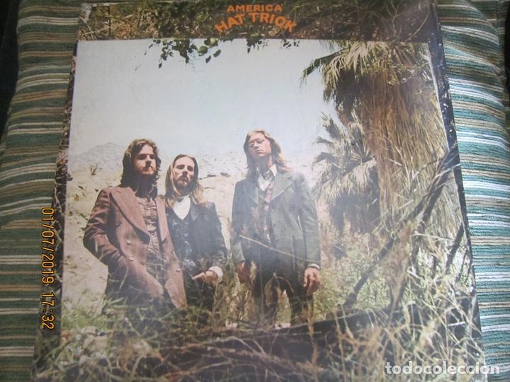 AMERICA - HAT TRICK LP - ORIGINAL U.S.A. - WARNER BROS. 1973 CON FUNDA INT. ORIGINAL - (Música - Discos - LP Vinilo - Pop - Rock - Extranjero de los 70)