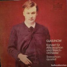 Discos de vinilo: GLAZUNOV, CONCIERTO PARA SAXOPHON Y ORQUESTA. VINILO GRABADO EN 1976 EN RUSIA. Lote 170228832