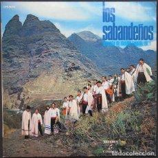 Discos de vinilo: LOS SABANDEÑOS – ANTOLOGÍA DEL FOLKLORE CANARIO VOL.1 - LP COLUMBIA 1970 . Lote 170229140