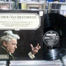 Discos de vinilo: LMV - BEETHOVEN. SINFONÍA Nº 5 EN DO MENOR OP. 67. LP. Lote 170241904