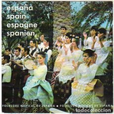 Discos de vinilo: FOLKLORE MUSICAL DE ESPAÑA: MUÑEIRA GALLEGA, JOTA, FOLIA CANARIA, ETC - EP PROMO 1969 . Lote 170244400