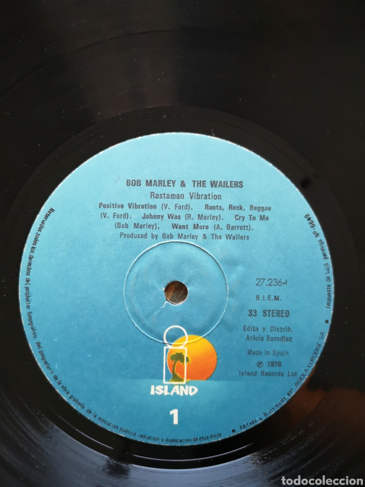 Discos de vinilo: BOB MARLEY & THE WAILERS - RASTAMAN VIBRATION - Foto 2 - 170245740