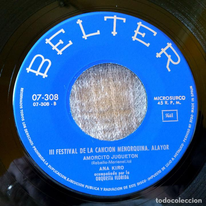 Discos de vinilo: ANA KIRO (CHICA YE-YE) - AMORCITO JUGUETON / VOLVERE A VENIR SINGLE BELTER AÑO 1966 IMPECABLE - Foto 4 - 170246232