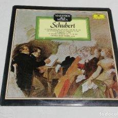 Dischi in vinile: L.P.: MAESTROS DE LA MÚSICA: SCHUBERT - 6 MOMENTOS MUSICALES / 12 VALSES NOBLES / 2 SCHERZI .... Lote 170284720