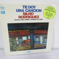 Discos de vinilo: TE DOY UNA CANCION. SILVIO RODRIGUEZ. LP VINILO. MOVIEPLAY 1975. VER FOTOGRAFIAS ADJUNTAS. Lote 170285244