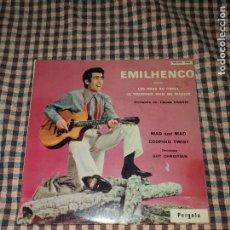 Discos de vinilo: EMILHENCO - LES BRAS EN CROIX / COOPING TWIST / MOI JE VOUDRAIS BIEN ME MARIER /MAD AND MAD, PERGOLA. Lote 170304996