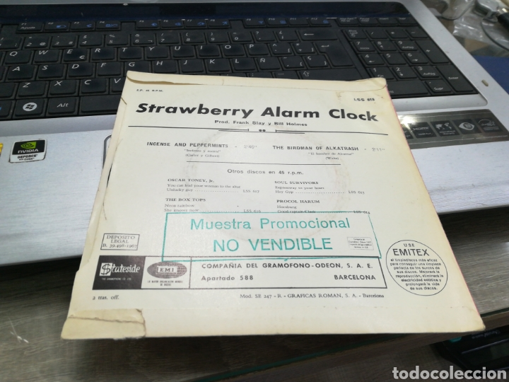 Discos de vinilo: The Strawberry alarm clock single incense and peppermints españa 1967 - Foto 2 - 170309682