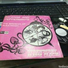 Discos de vinilo: THE STRAWBERRY ALARM CLOCK SINGLE INCENSE AND PEPPERMINTS ESPAÑA 1967. Lote 170309682