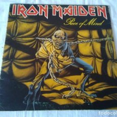 Discos de vinilo: 59-LP IRON MAIDEN , PIECE OF MIND, 1983. Lote 170319900