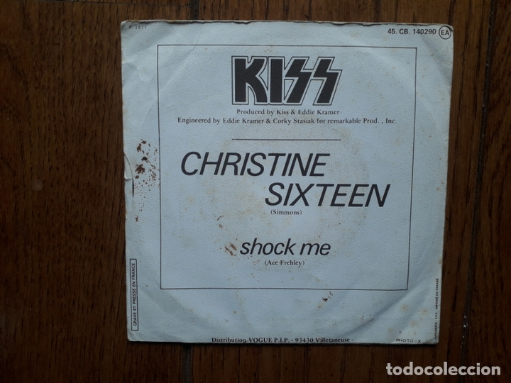Discos de vinilo: Kiss - christine sixteen + shock me - Foto 2 - 170337296