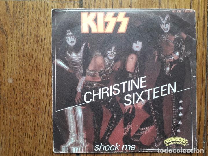 KISS - CHRISTINE SIXTEEN + SHOCK ME (Música - Discos - Singles Vinilo - Heavy - Metal)