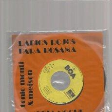 Discos de vinilo: TONIO MONTI LABIOS ROJOS. Lote 170341452