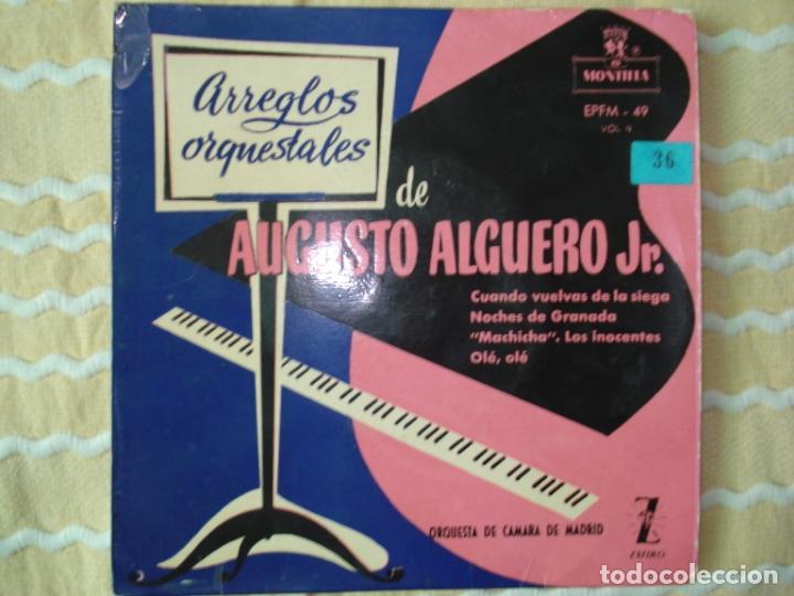 ARREGLOS ORQUESTALES DE AUGUSTO ALGUERO JR. VOL.II (Música - Discos de Vinilo - EPs - Clásica, Ópera, Zarzuela y Marchas)