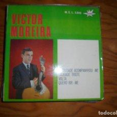 Discos de vinilo: VICTOR MOREIRA. A SAUDADE ACOMPANHOU-ME + 3. EP. MARFER, 1966. DEDICADO POR EL CANTANTE. IMPECABLE. Lote 170373836
