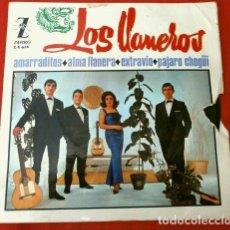 Discos de vinilo: LOS LLANEROS (EP 1965) AMARRADITOS - ALMA LLANERA - PAJARO CHOGUI (GRUPO MADRILEÑO AÑOS 60). Lote 170416436