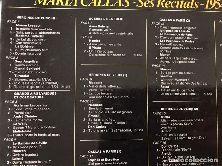 Discos de vinilo: María Callas. Ses recitals 1954-1969. Excelente estado. Como nuevo. Ver fotos. Box - Foto 3 - 180250176