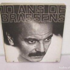 Discos de vinilo: 10 ANS DE BRASSENS. LP VINILO. 6 DISCOS DE VINILO. PHILIPS. TODOS FOTOGRAFIADOS. VER FOTOGRAFIAS . Lote 170443740