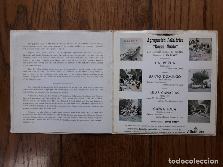Discos de vinilo: Agrupación folklórica roque nublo - 3 - la perla + salto domingo + islas canarias + cabra loca - Foto 4 - 170492280