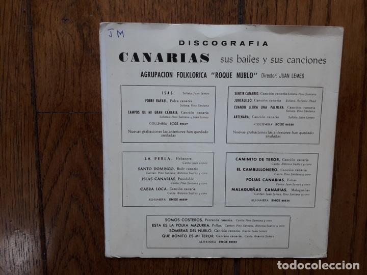 Discos de vinilo: Agrupación folklórica roque nublo - 3 - la perla + salto domingo + islas canarias + cabra loca - Foto 5 - 170492280